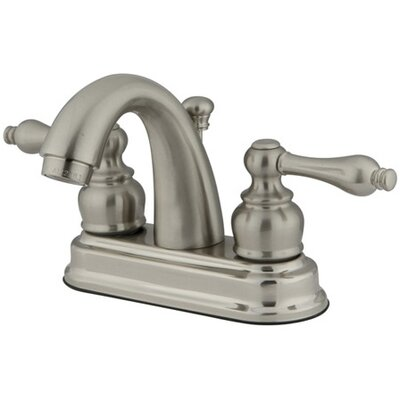 Restoration Centerset Double Handle Bathroom Faucet with Drain Assembly Finish: Satin Nickel