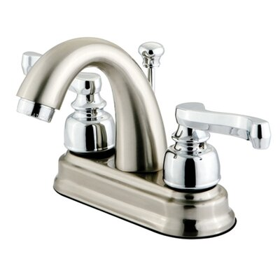 Royale Centerset Bathroom Faucet with Double Lever Handles Finish: Satin Nickel/Polished Chrome
