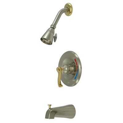 Royal Trim Kit with French Lever Handles Finish: Satin Nickel / Polished Brass