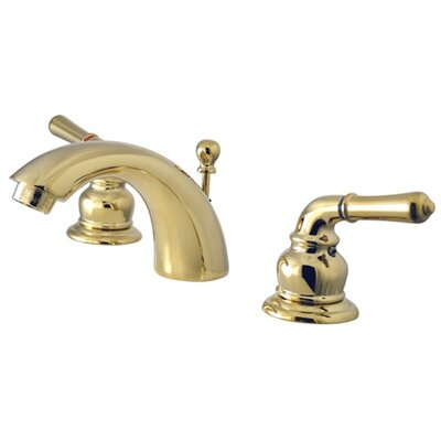 St. Charles Mini Widespread Bathroom Faucet with Double Lever Handles Finish: Polished Brass