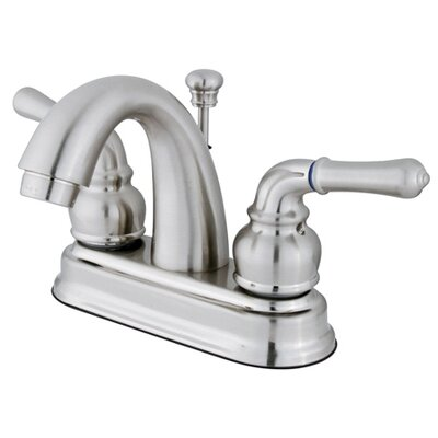 Denver Centerset Double Handle Bathroom Faucet with Drain Assembly Finish: Satin Nickel