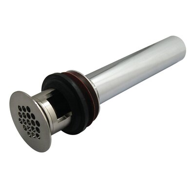 1.5 Grid Shower Drain With Overflow Finish: Satin Nickel