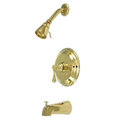 Volume Control Tub and Shower Faucet with Buckingham Lever Handles Finish: Polished Brass