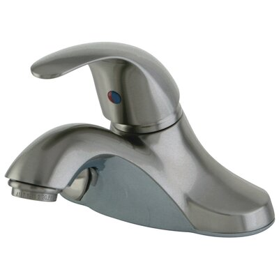 Three Hole Centerset Bathroom Faucet with Single Lever Handle Drain: Without Pop Up Drain, Finish: Satin Nickel