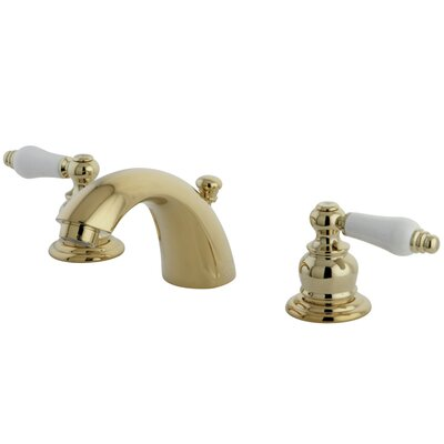 Elizabeth Mini-Widespread Double Handle Bathroom Faucet with Drain Assembly Finish: Polished Brass