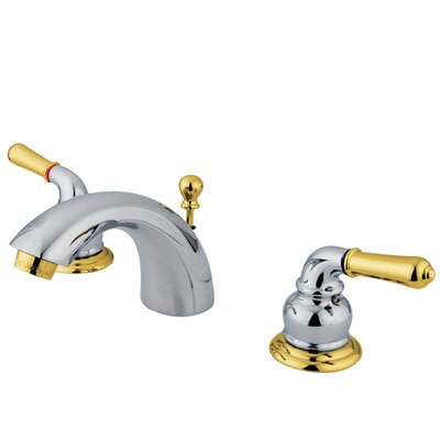 St. Charles Mini-Widespread Double Handle Bathroom Faucet with Drain Assembly Finish: Polished Chrome/Polished Brass