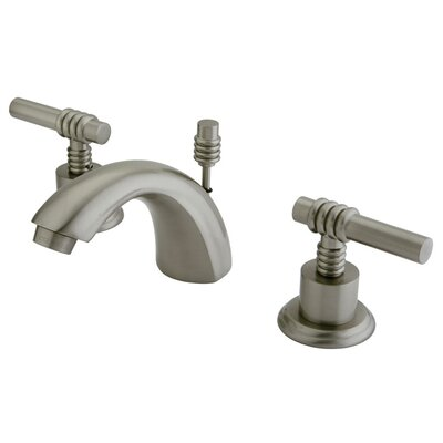 St. Charles Mini Widespread Bathroom Faucet with Double Lever Handles Finish: Satin Nickel