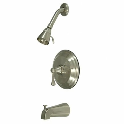 Volume Control Tub and Shower Faucet with Buckingham Lever Handles Finish: Satin Nickel