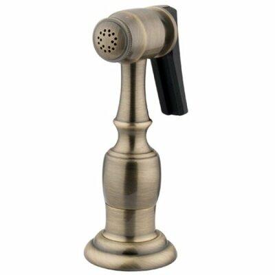 Brass Kitchen Side Sprayer with Hose Finish: Vintage Brass