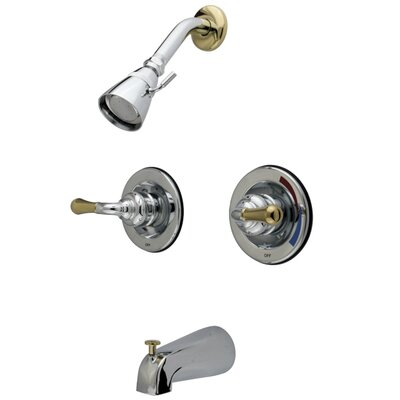 St. Charles Pressure Balanced Volume Control Tub and Shower Faucet Finish: Polished Chrome / Polished Brass