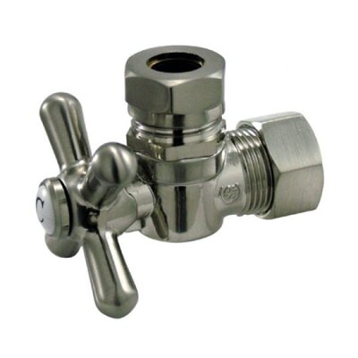 AQuarter Turn Valves with Cross Handles Finish: Satin Nickel