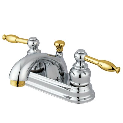 St. Regis Centerset Lever Handle Bathroom Faucet Finish: Polished Chrome/Polished Brass