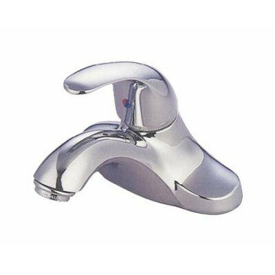 Three Hole Centerset Bathroom Faucet with Single Lever Handle Drain: With Plastic Pop Up Drain, Finish: Polished Chrome
