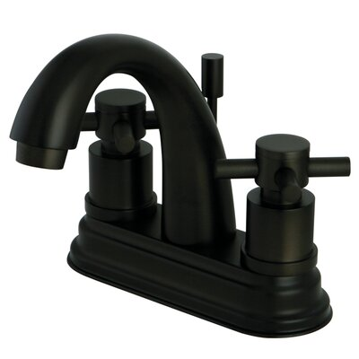 South Beach Double Cross Handle Centerset Bathroom Faucet with Brass Pop-Up Finish: Oil Rubbed Bronze
