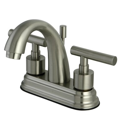 Sydney Centerset Bathroom Faucet with Brass Pop-Up Less Handles Finish: Satin Nickel