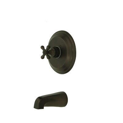 Vintage Thermostatic Pressure Balanced Tub and Shower Faucet Trim with Cross Handles Finish: Oil Rubbed Bronze