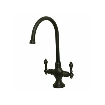 Vintage Double Handle Single Hole Kitchen Faucet with Metal Lever Handles Finish: Oil Rubbed Bronze