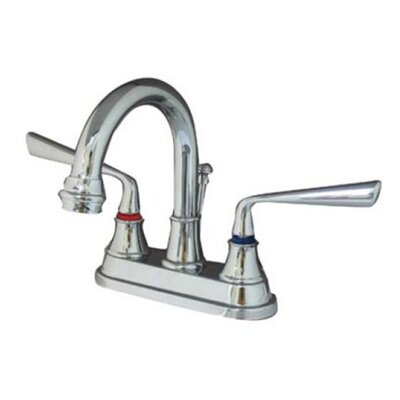 Copenhagen Double Handle Centerset Bathroom Faucet with Brass Pop-Up Finish: Polished Chrome