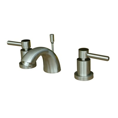 Tampa Widespread Bathroom Sink Faucet with Double Lever Handles Finish: Satin Nickel