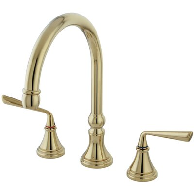 Copenhagen Double Handle Widespread Kitchen Faucet Finish: Polished Brass