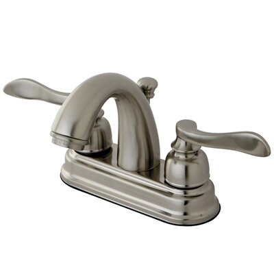 NuWave French Double Handle Centerset Bathroom Faucet with Retail Pop-Up Finish: Satin Nickel