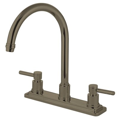 South Beach Double Handle Kitchen Faucet Finish: Satin Nickel