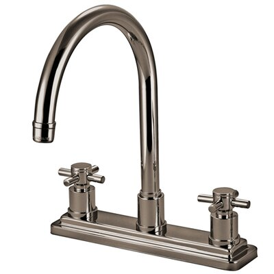 South Beach Double Cross Handle Kitchen Faucet Finish: Satin Nickel