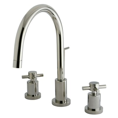 South Beach Double Cross Handle Mini-Widespread Bathroom Faucet Finish: Polished Nickel