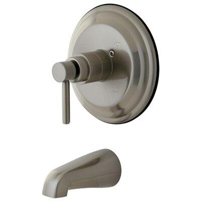 South Beach Pressure Balance Tub and Shower Faucet Trim Finish: Satin Nickel