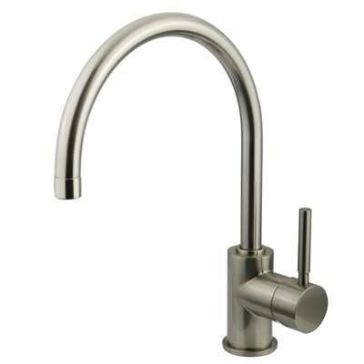 South Beach Single Handle Vessel Sink Faucet without Pop-Up and Plate Finish: Satin Nickel