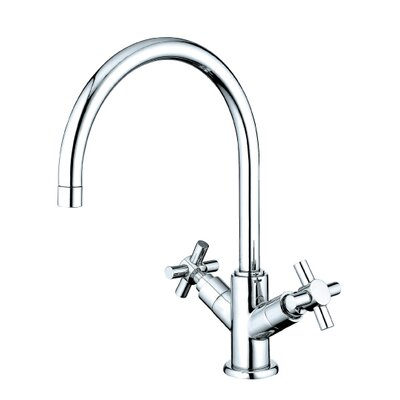 South Beach Double Cross Handle Vessel Sink Faucet without Pop-Up and Plate Finish: Polished Chrome