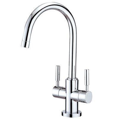 South Beach Double Handle Vessel Sink Faucet without Pop-Up and Plate Finish: Polished Chrome