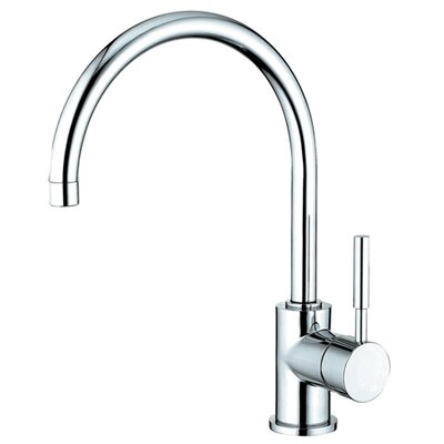 South Beach Single Handle Kitchen Faucet with Plate Finish: Polished Chrome