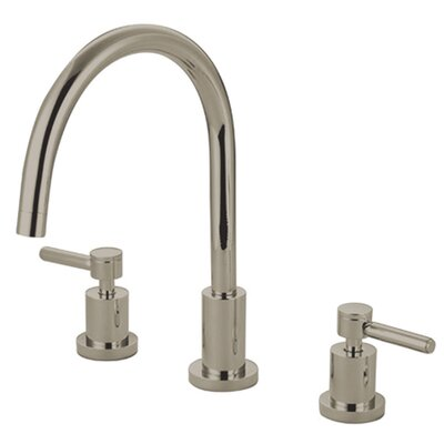 South Beach Double Handle Widespread Kitchen Faucet Finish: Polished Nickel
