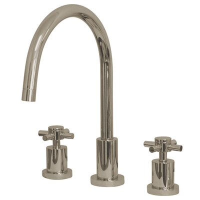 South Beach Double Cross Handle Widespread Kitchen Faucet Finish: Polished Nickel