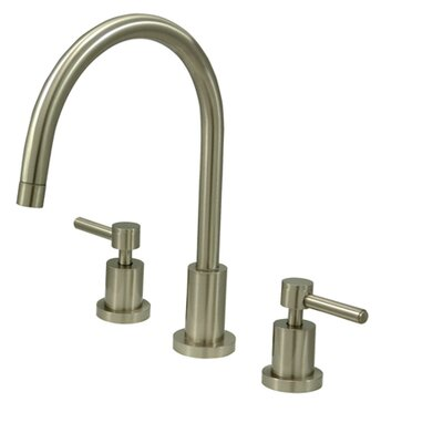 South Beach Double Handle Widespread Kitchen Faucet Finish: Satin Nickel