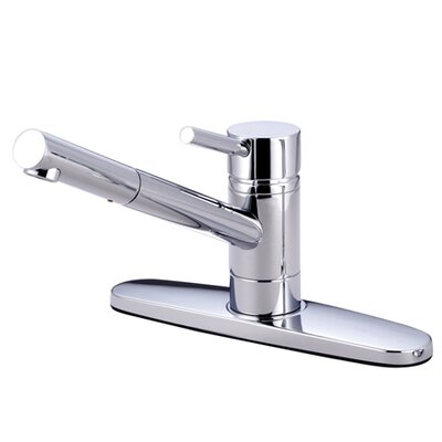 South Beach Single Handle Pull-Out Kitchen Faucet Finish: Polished Chrome