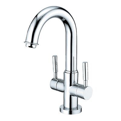 South Beach Double Handle Bathroom Faucet with Push-Up Pop-Up and Plate Finish: Polished Chrome