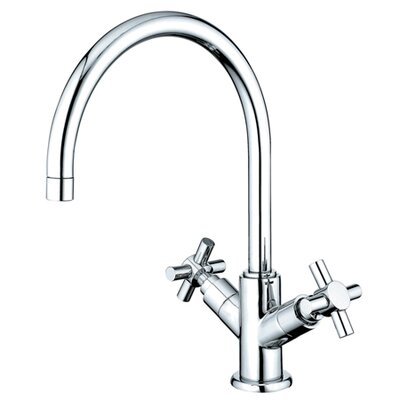 South Beach Double Cross Handle Kitchen Faucet with Plate