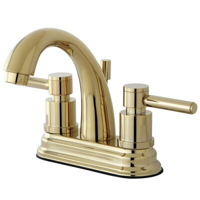 South Beach Double Handle Centerset Bathroom Faucet with Brass Pop-Up Finish: Polished Brass