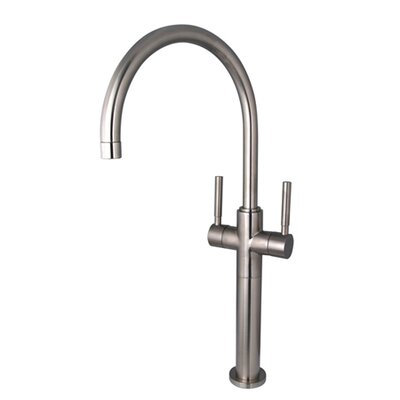 South Beach Double Handle Vessel Sink Faucet without Pop-Up Finish: Satin Nickel