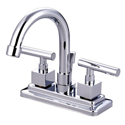 Rio Double Handle Centerset Bathroom Faucet with Pop-up Finish: Polished Chrome