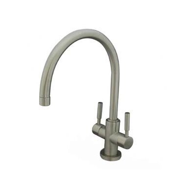 South Beach Double Handle Vessel Sink Faucet without Pop-Up and Plate Finish: Satin Nickel