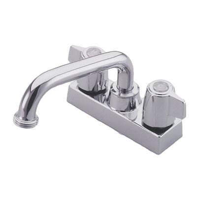 Centerset Laundry Faucet with Double Lever Handles Finish: Polished Chrome