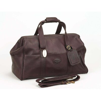 """Luggage Vintage 15"""" Leather Carry-on Duffel Color: Caf"""