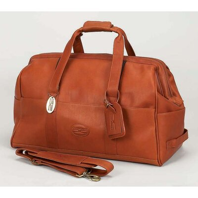 """Luggage Vintage 15"""" Leather Carry-on Duffel Color: Saddle"""