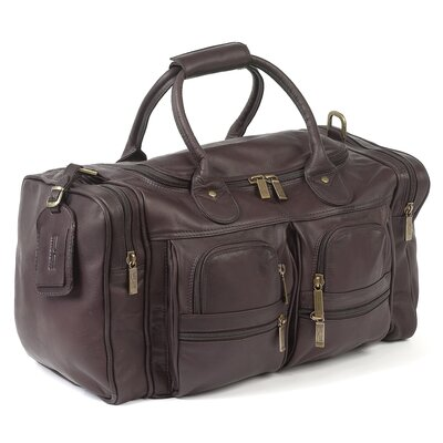 """Executive Sports 17"""" Leather Travel Duffel Color: Caf"""