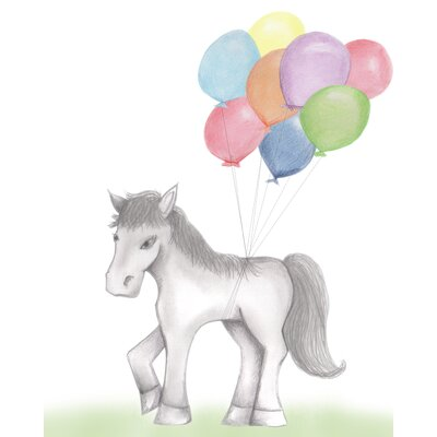 'Party Pony' Painting Print on Paper DB-BW-Ho-Ppr