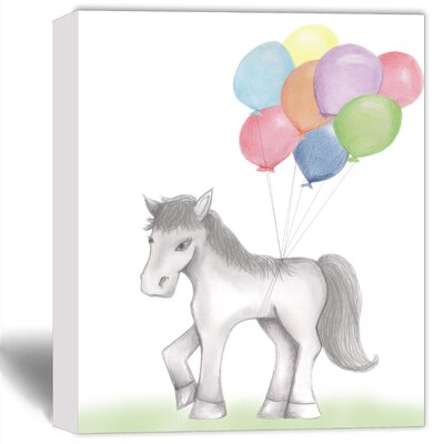 'Party Pony' Painting Print on Canvas DB-BW-Ho-S