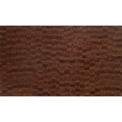 Plank 7 x 46 x 10.5mm Cork Laminate Flooring in Matte Brown Fuse